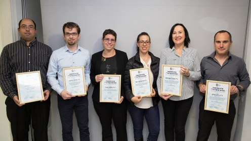 Congratulations to our lab member, Dr. Inbal Hazkany, for receiving the the Israeli Medical Association (IMA) prize for Outstanding Basic Research. The ceremony was held in the presence of the IMA chairman, the Scientific Council members and all six outstanding prizewinning researchers. Dr. Hazkany studied the impact of molecular profiling guided targeted gold nanoparticles on radiosensitivity of metastatic salivary gland adenoid cystic carcinoma.
